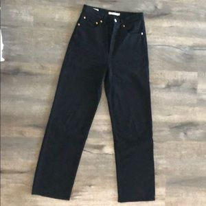 Levi's Ribcage Straight, size 27 in Black